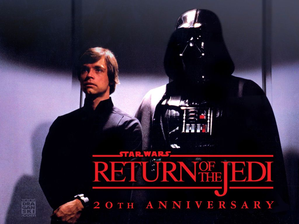 Wallpaper Return Of The Jedi Vader And Luke Star Wars