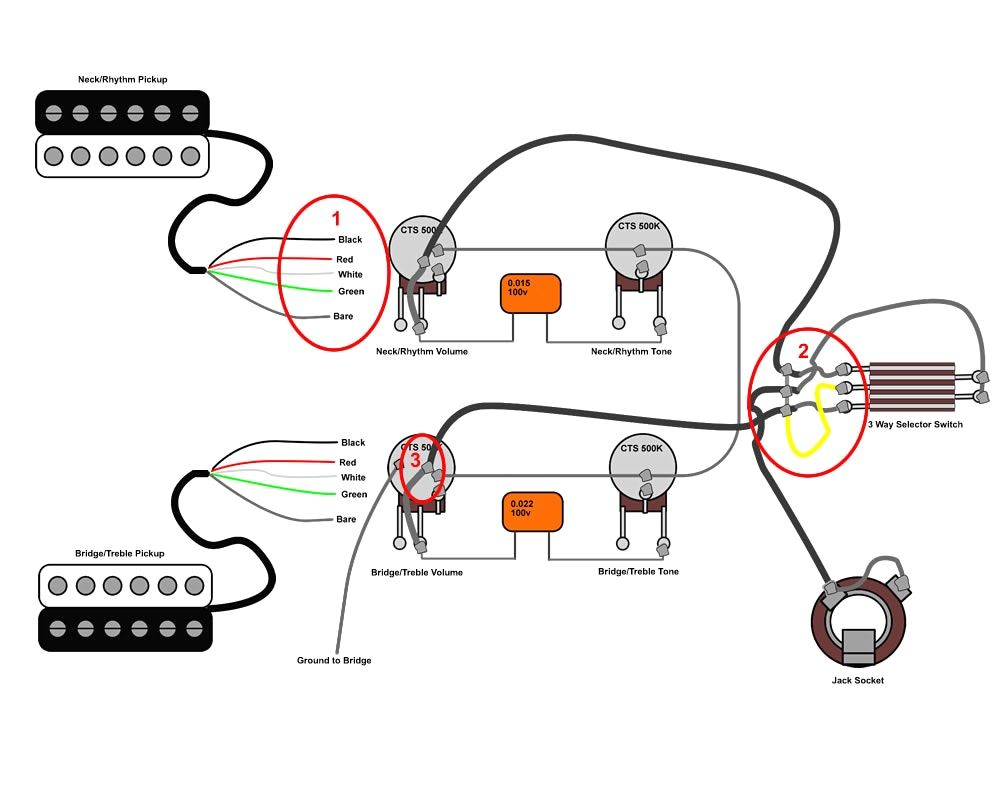 50s Les Paul Wiring Diagram 1 2018 6 Way Rotary Switch Guitar