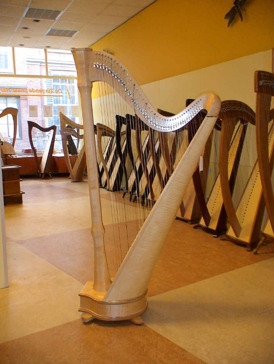 The Mademoiselle 40 Harp in Maple by Camac  I have one the same and