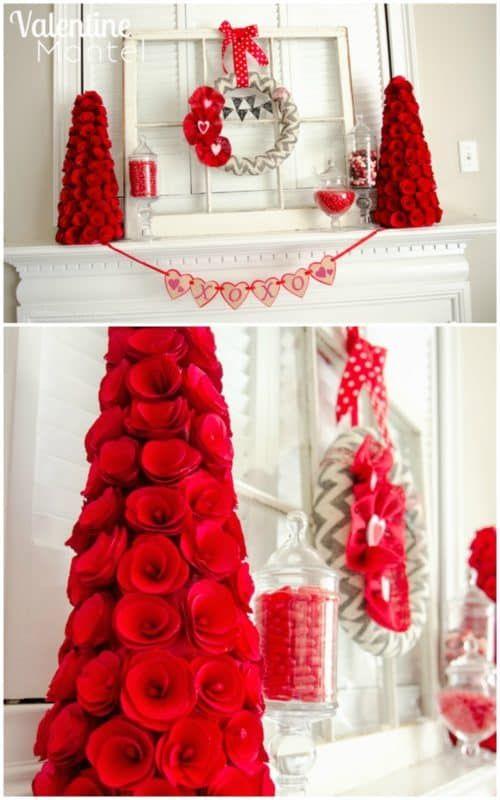 Valentine Decor - Valentine Mantel Ideas