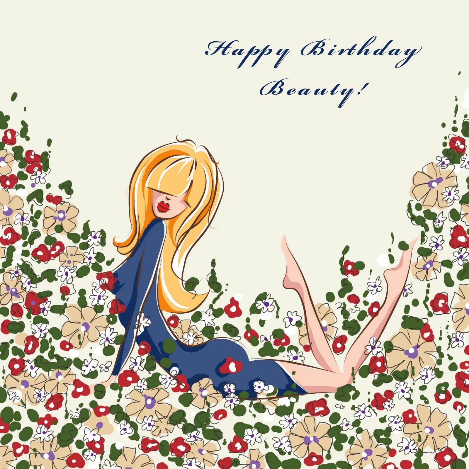 Happy Birthday Beautiful Girl The Card Was Pretty Much