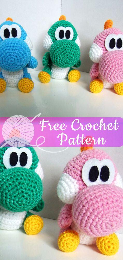 BABY DINOSAURS [CROCHET FREE PATTERNS] #DINOSAURS #amigurumi #crochet #freecrochetpattern #crochetlove #diy #tutorialcrochet #videocrochet #pattern #crochetdinosaurpatterns