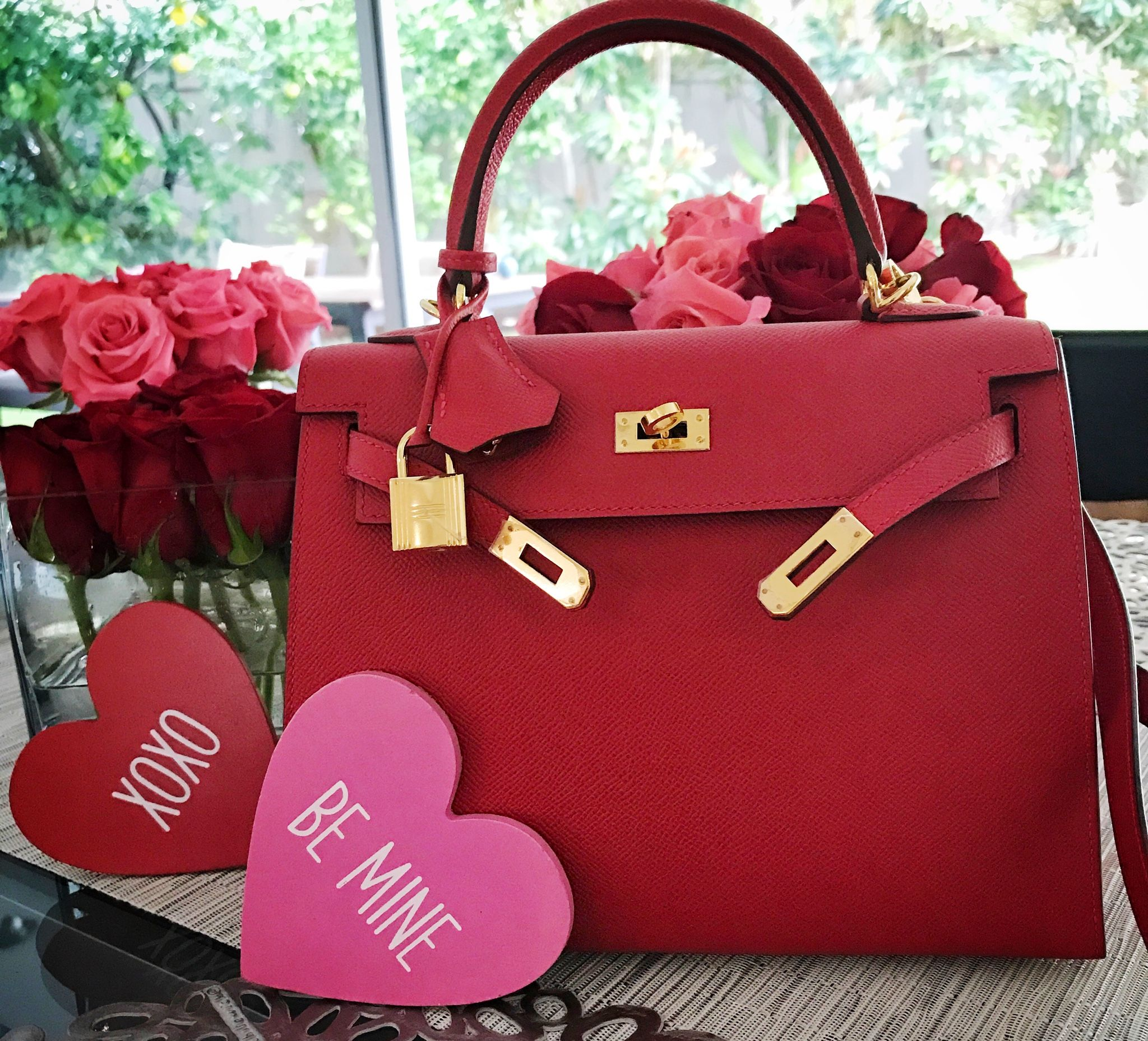 2172620751 hermes  Kelly  25  rouge  casaque  valentines  day  love  hearts ...