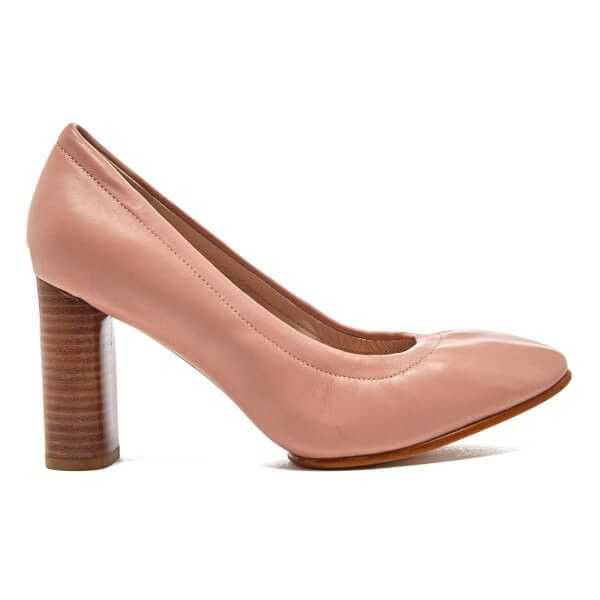 Clarks Women's Grace Eva Leather Court Shoes - Dusty Pink ($88) ❤ liked on.  Leather High HeelsLeather ...
