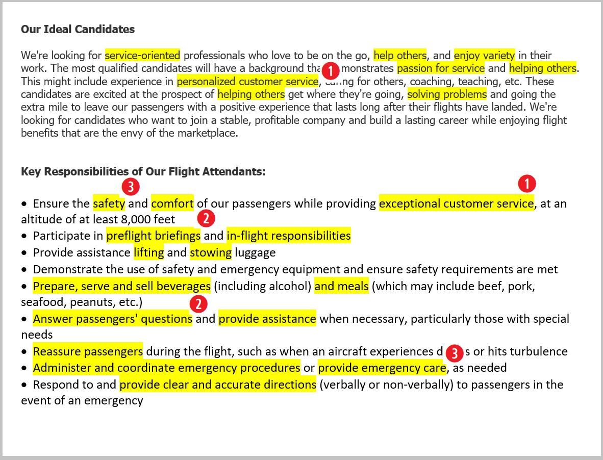 Flight Attendant Resume Job Description | Career Guides & Advice ...