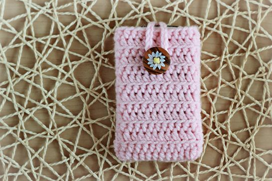 New Pattern Crochet Cell Phone Cover Crafts Zoom Yummy Favs