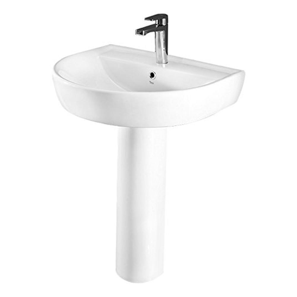 Nameeks Bella Pedestal Sink In White Cerastyle 007800u Ped One