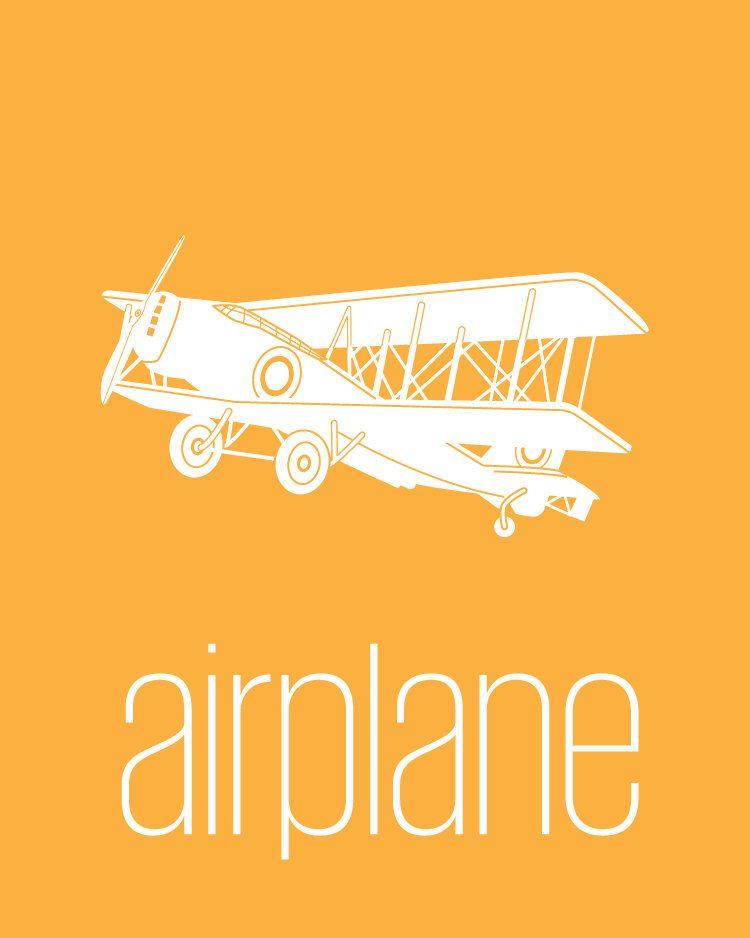 A is for Airplane - 8x10 - Modern Nursery Wall Art, Children\'s Wall ...