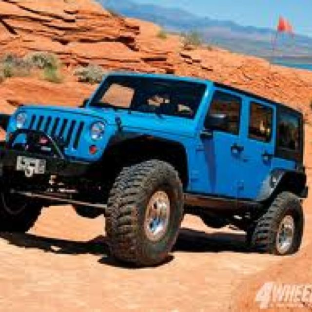 4 Door, (electric) Blue, Convertible Or Not, Jeep Wrangler, You Are Going  To Be My Baby Someday.