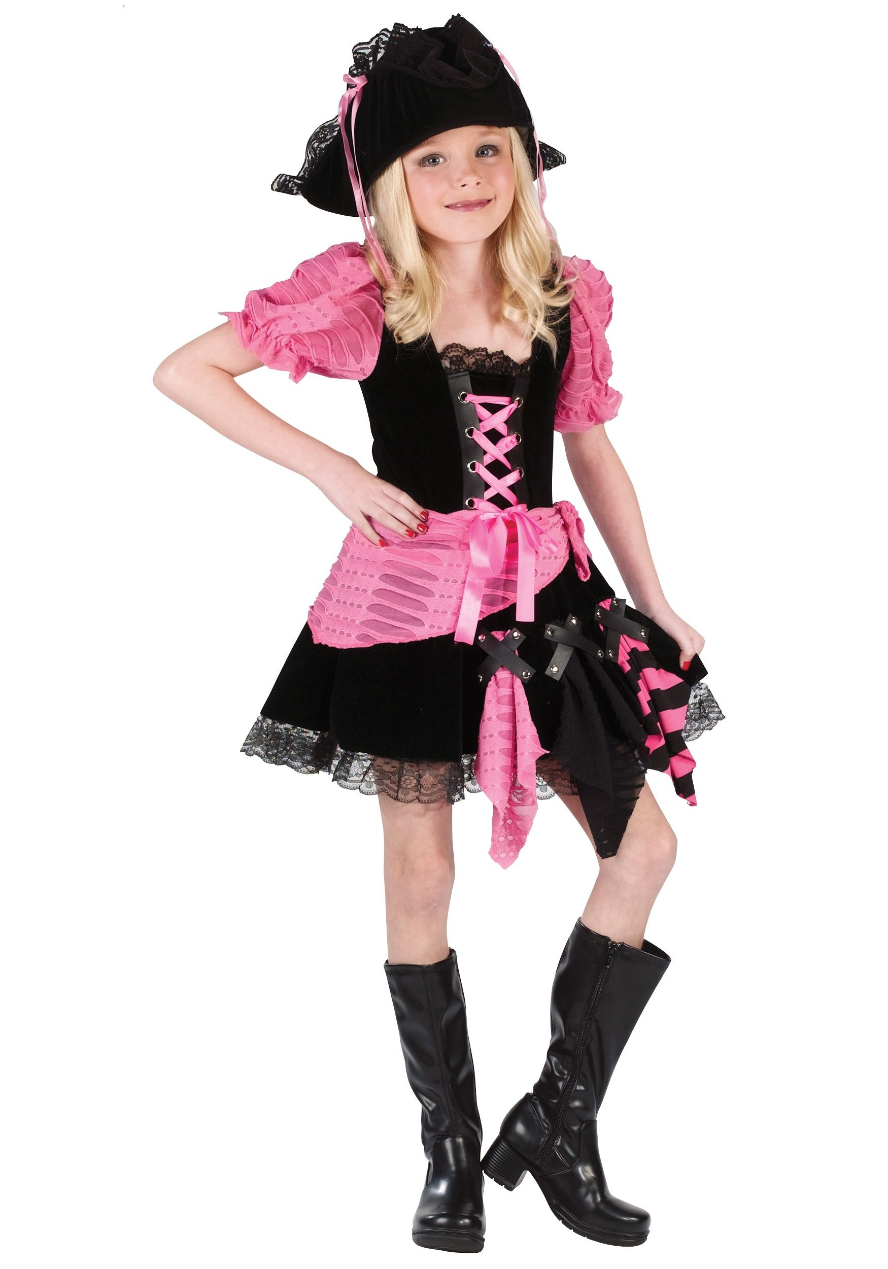 3fdc9a0ec Kid s Pink Pirate Costume - Child Pirate Costumes Girl