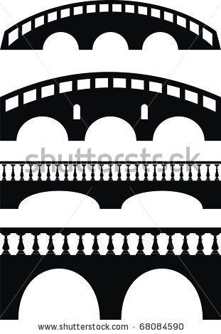 Bridge Pictogram Stonebridge Clip Art Silhouette Illustration Stone Bridge Bridge Art