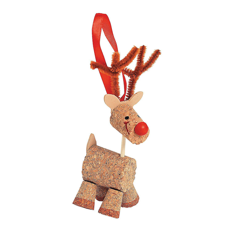Cork Reindeer Christmas Ornament Craft Kit Christmas Ornament Crafts Ornament Crafts Christmas Crafts
