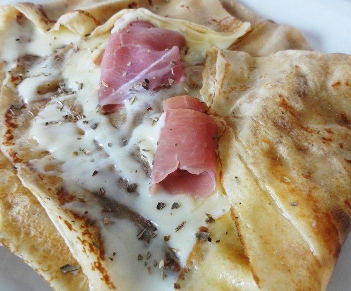 Crêpes salées mozzarella jambon cru | Crêpes salées ...