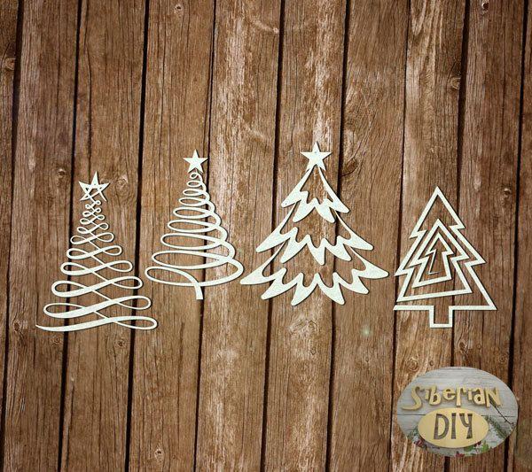 decoration CHIPBOARD deco Noel die cuts DIE CUT