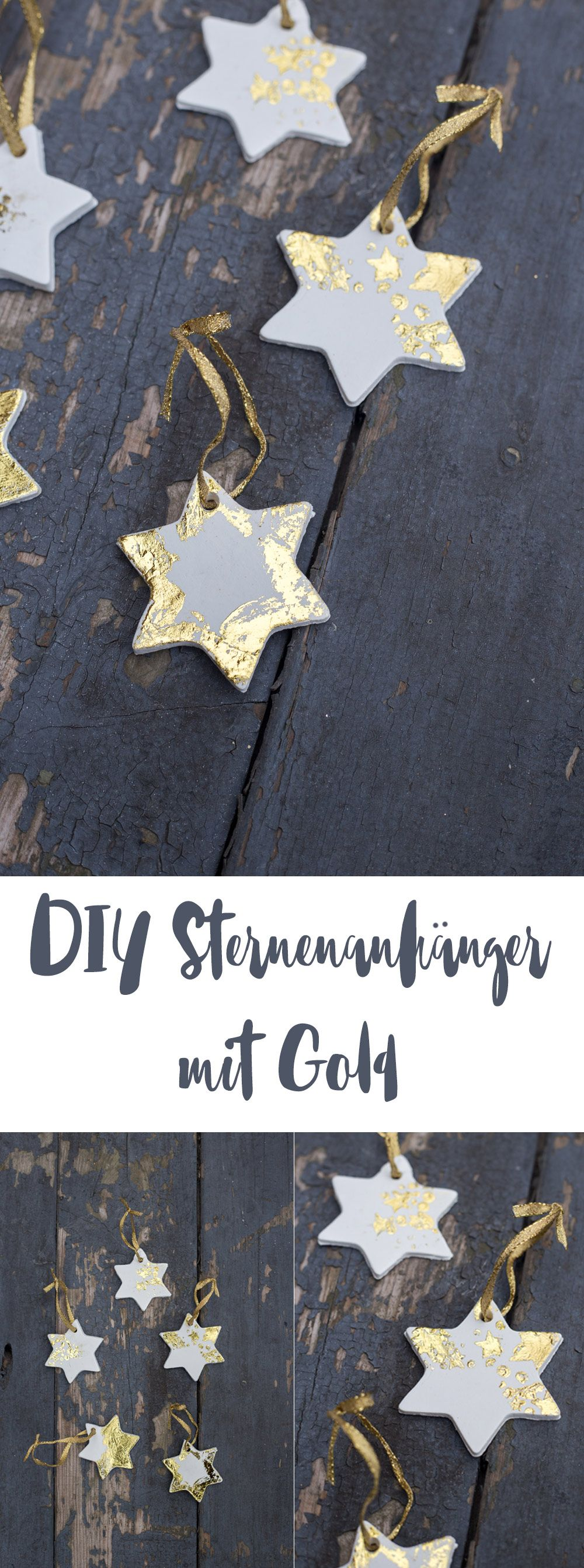 Photo of DIY star pendant with gold – make Christmas tree pendant