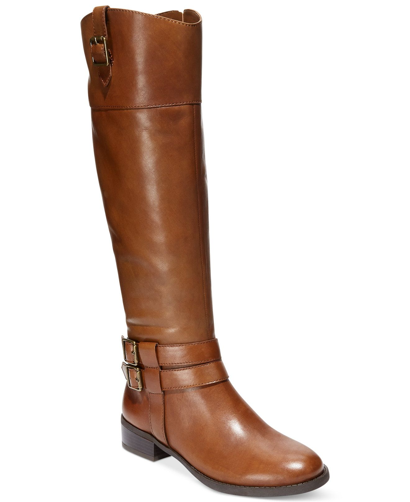 INC International Concepts Fahnee Leather Wide Calf Riding Boots - Boots -  Shoes - Macy's