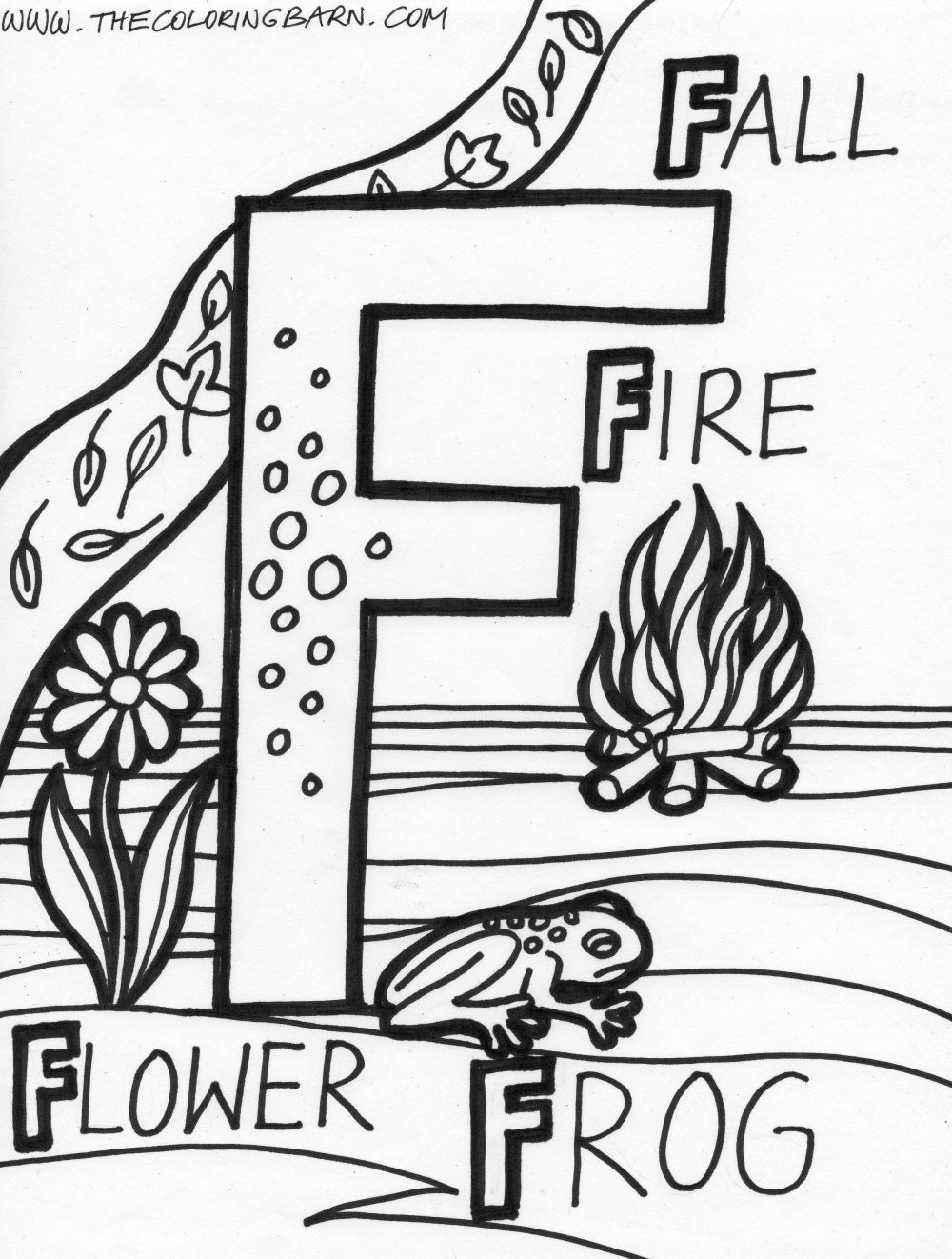 F for Fall Fire Flower Frog Alphabet F Pinterest Flower frog