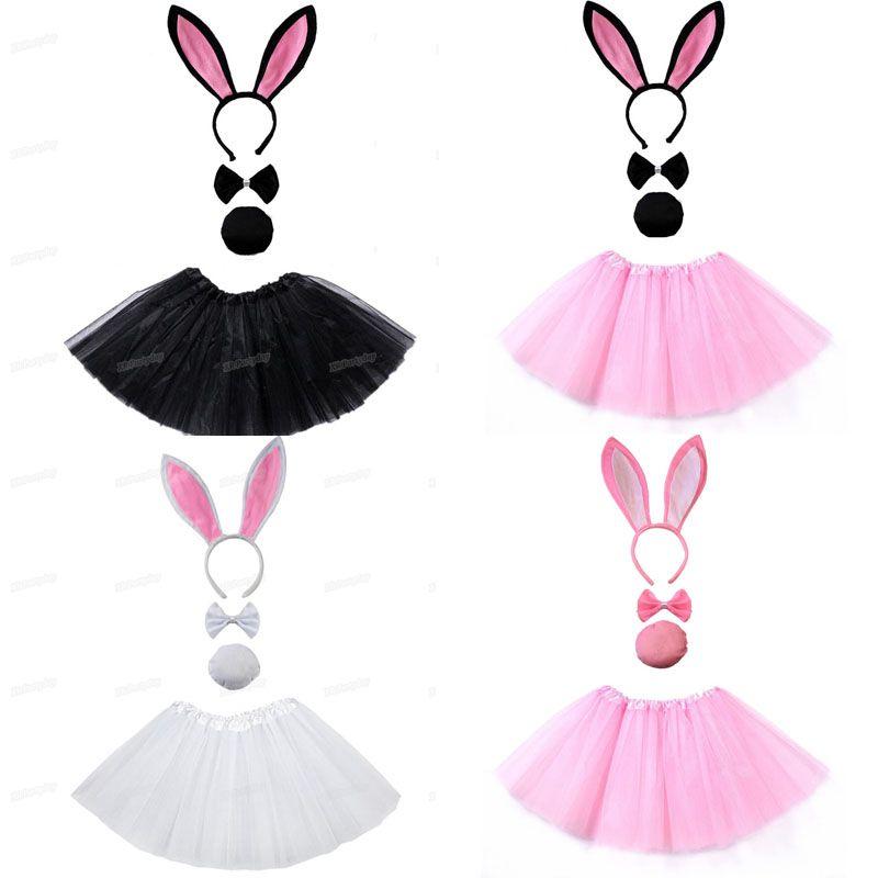 Bunny Ears Headband Adult or Kids Rabbit Costume Halloween Easter Fancy Dress