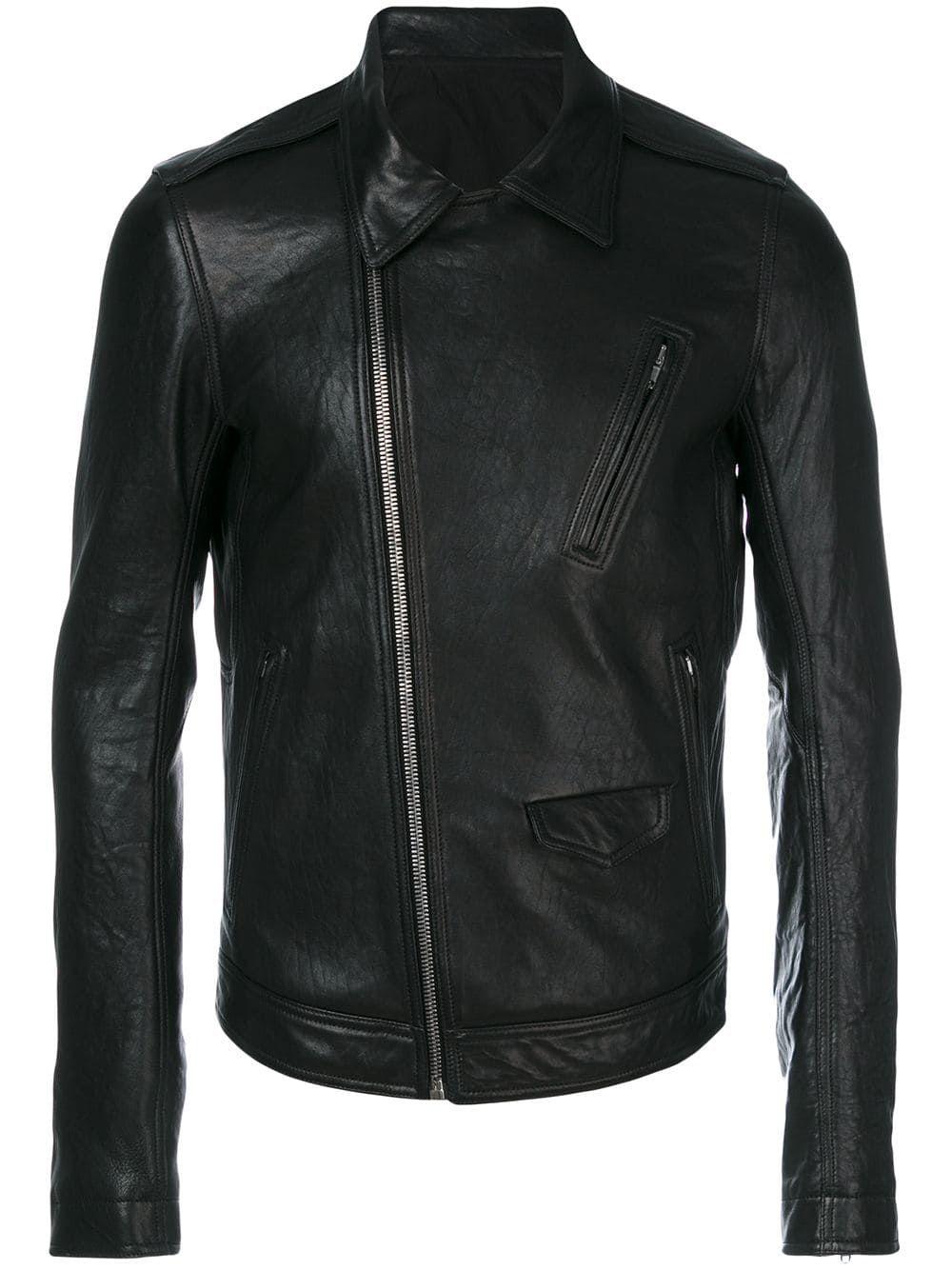 Offcenter zip fastening jacket Jackets, Leather jacket