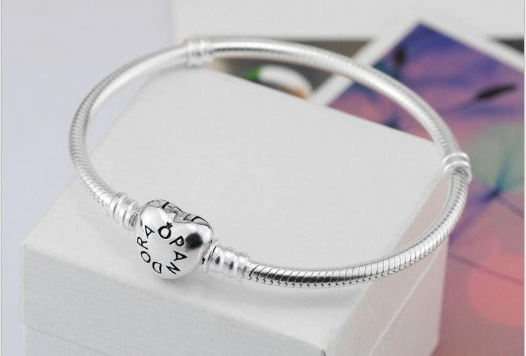 4840f7fe4 Authentic Pandora bracelet sterling silver with heart clasp #590719 ...