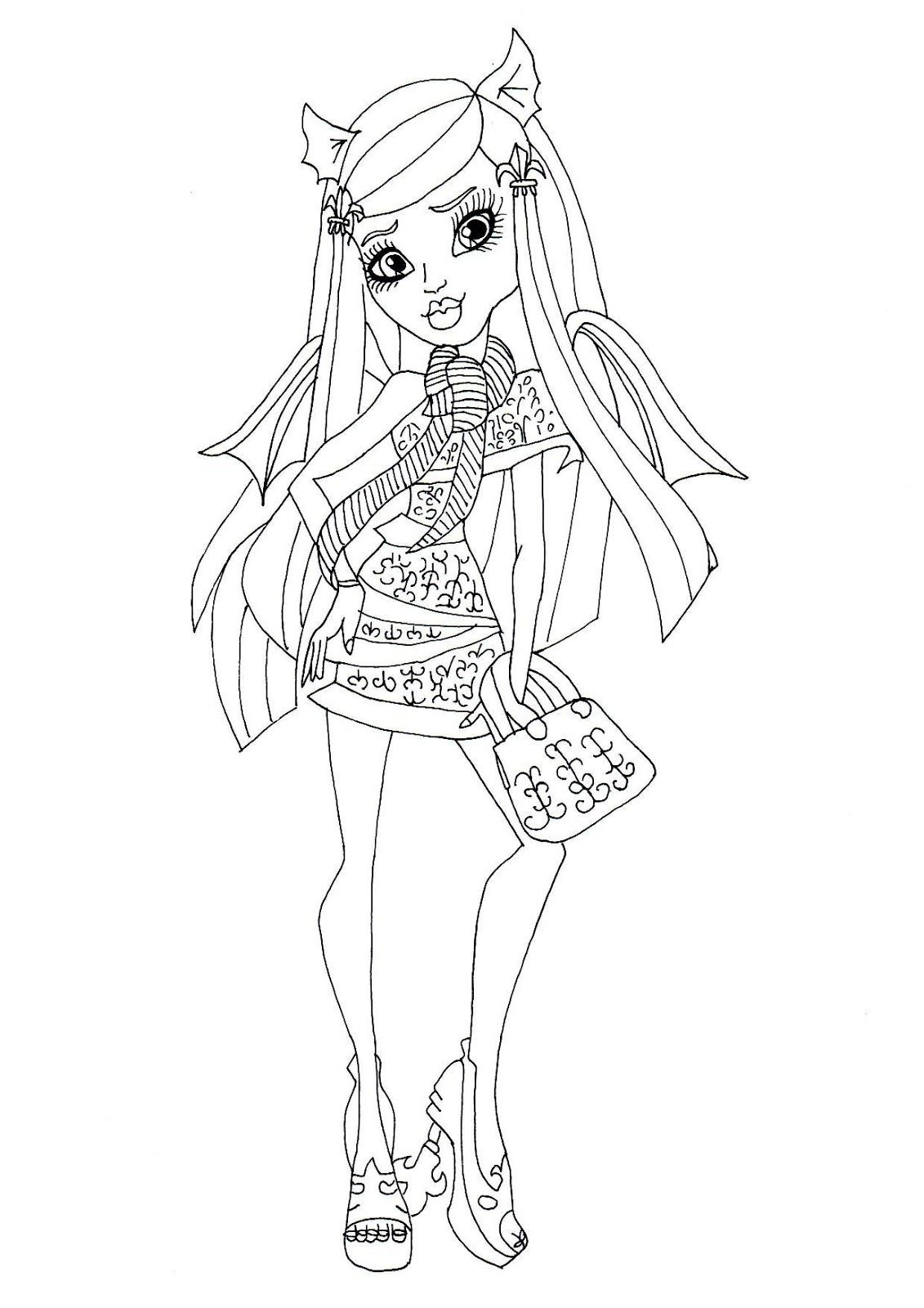 Monster High : Rochelle Goyle | Monster High Coloring Pages ...