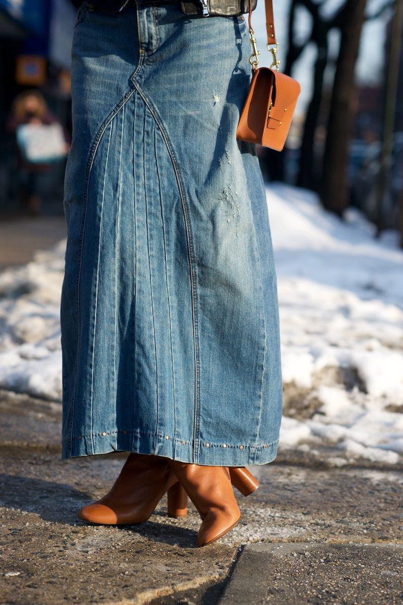 Seventies Swoosh Fashion, Denim skirt, Skirts