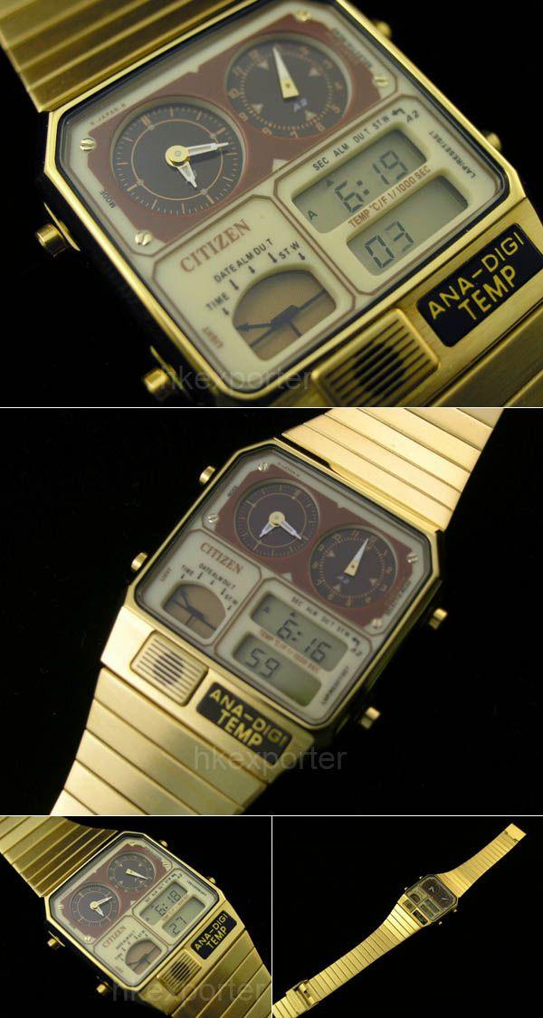 CITIZEN ANA-DIGI TEMP VINTAGE WATCH JG2002-53P [JG2002-53P] : GOLDEN8TS #vintagewatches