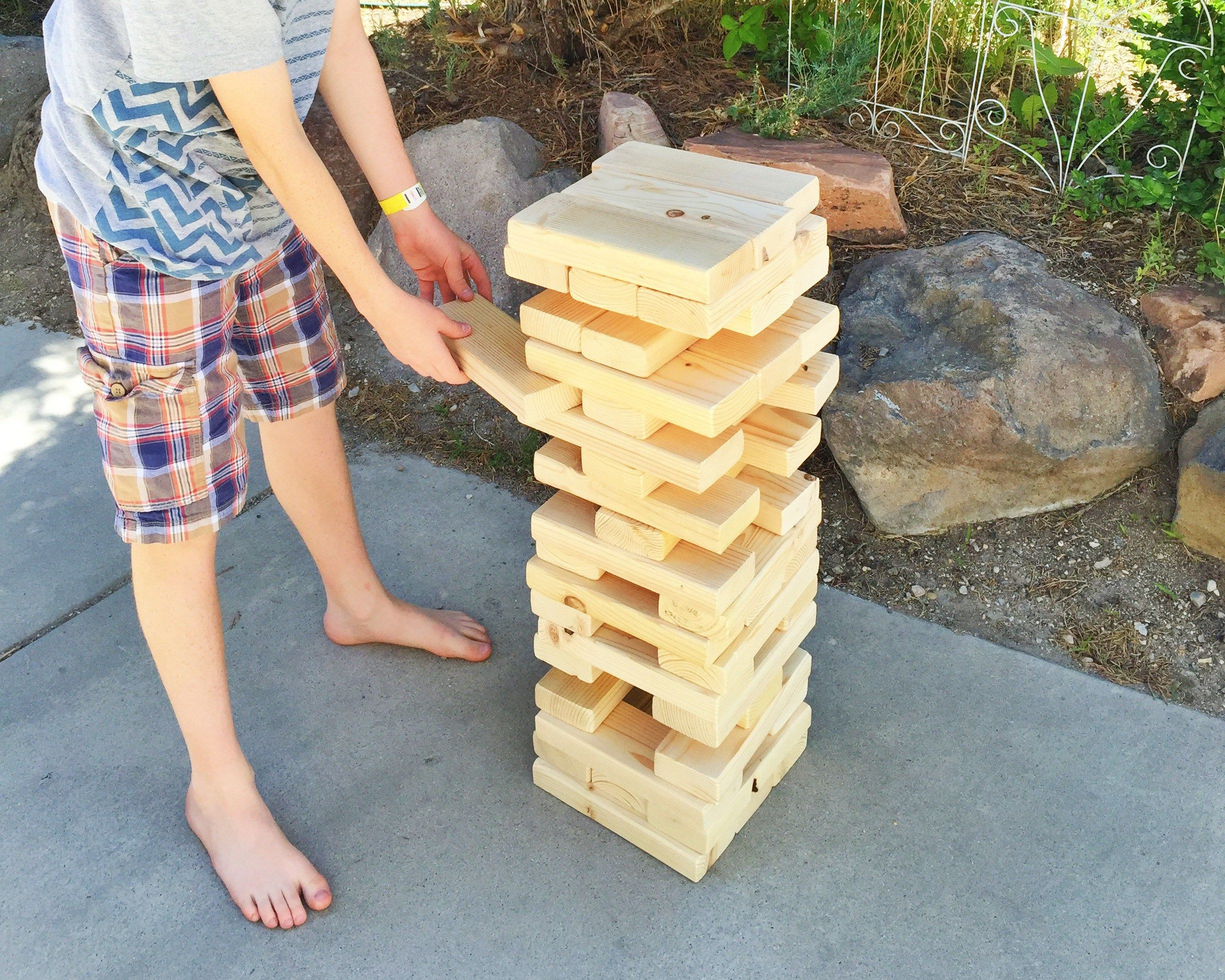 How To Make Your Own Giant Jenga, Lawn Games, Giant Outdoor Games, DIY