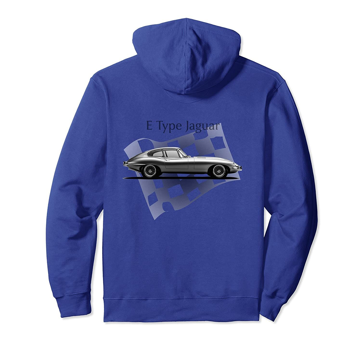 E Type Jaguar Hoodie   Amazing Classic Car Design-Veotee