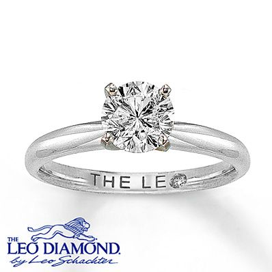 The Leo Diamond 1 Carat Solitaire Ring 14K White Gold