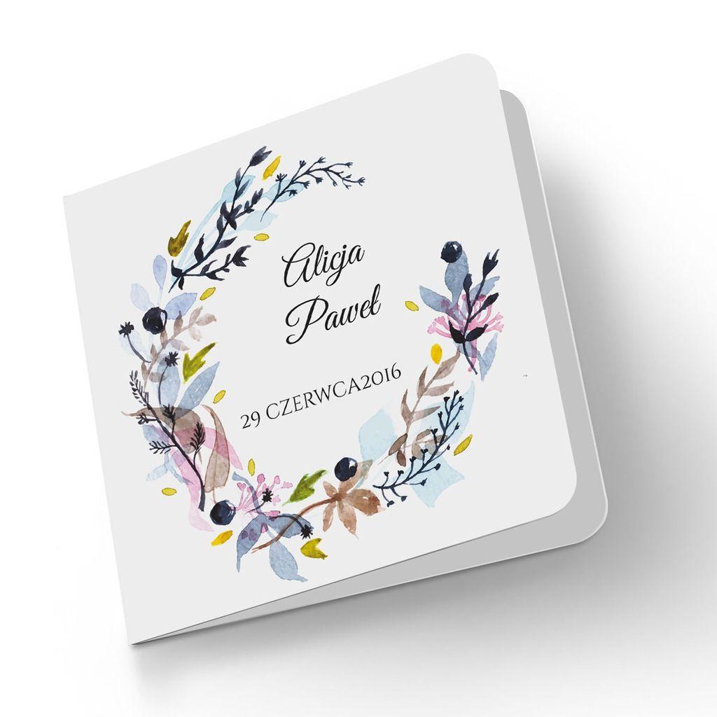 Zaproszenia ślubne Wianki Zaproszenie Na ślub Zaproszenia Pinterest