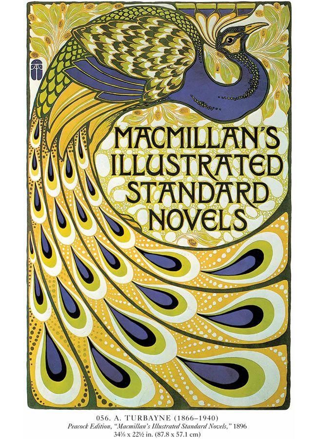 Art Nouveau Poster   Macmillan's Illustrated Standard Novels, 1896, doverpublications.com