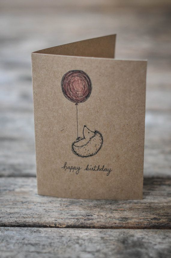 Adorable Birthday Card For Anyone Each Card Is Hand Drawn For Every