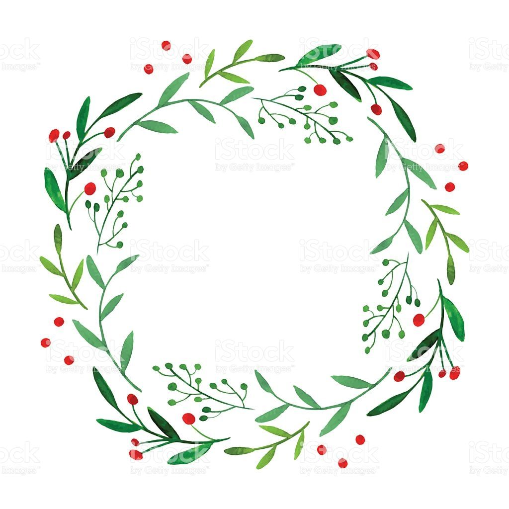 Christmas Wreath Silhouette Vector.Pin On Cricut Ideas