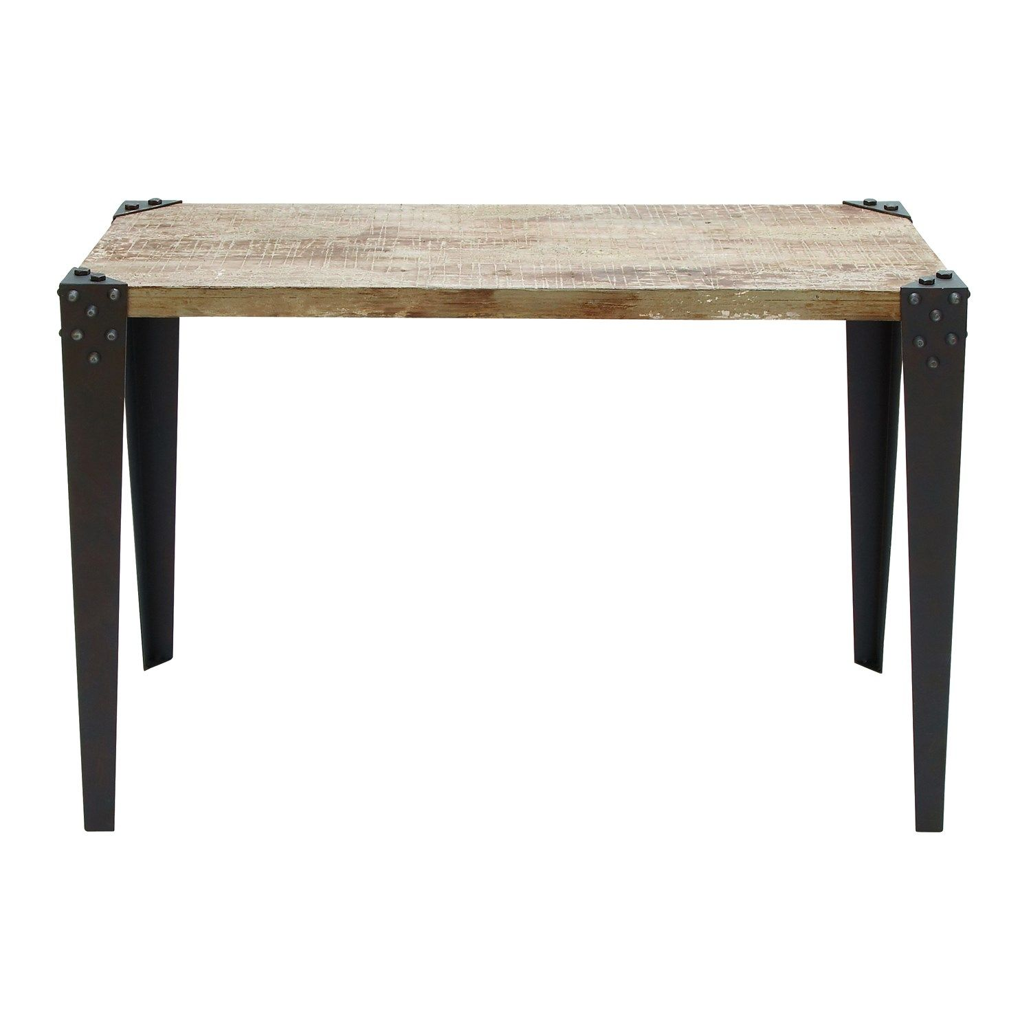 Woodland Imports 51866 Metal Wood Console Table