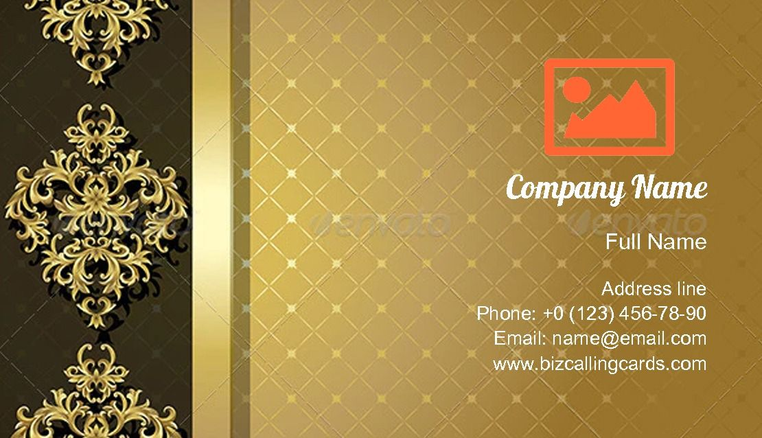 Create Online Vintage Gold Background Business Card Template With