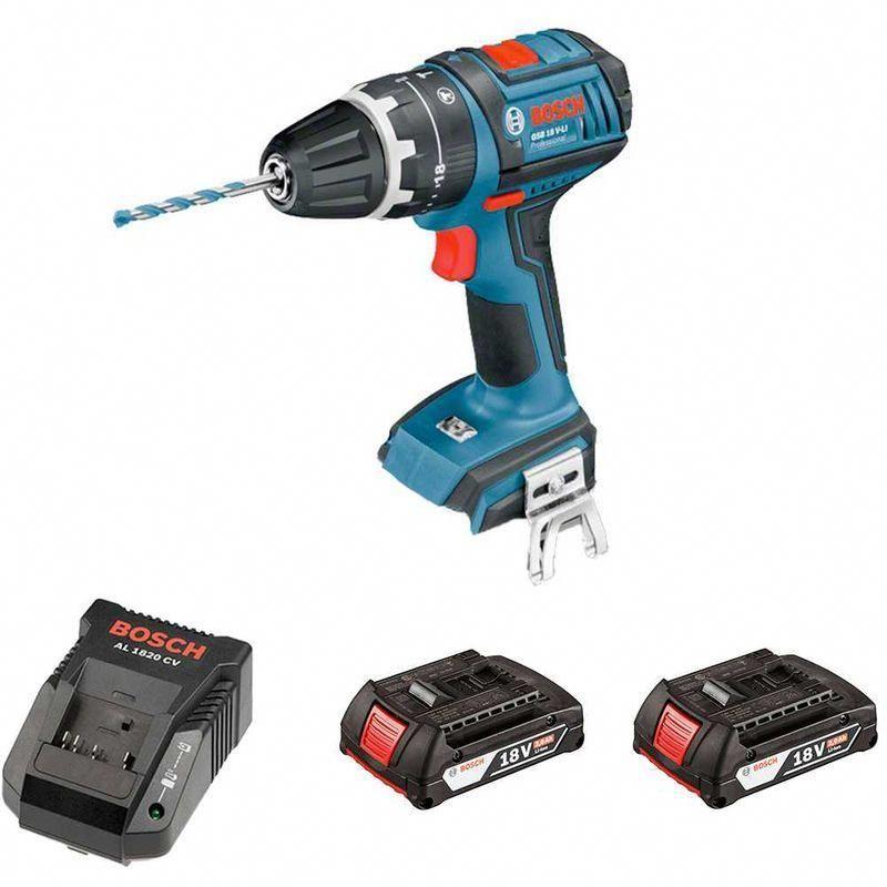 Bosch Gsb 18v Li 2 X 2 0 Ah Al1820cv Carton Power Drill Drill Carton