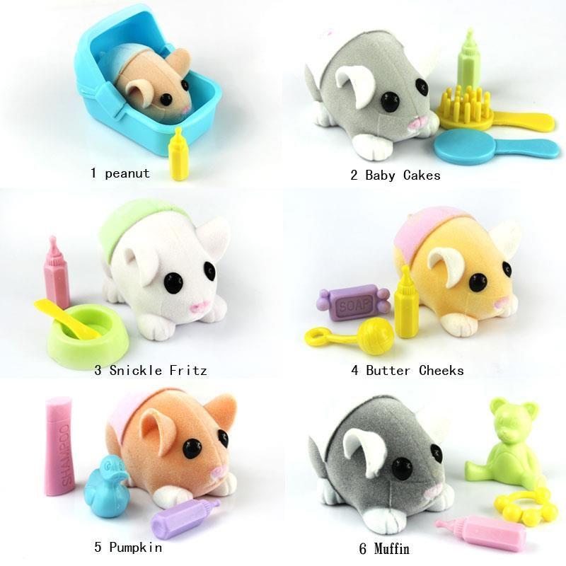 Super Cute Zhu Zhu Pets Go Go Pets Hamster Baby With Tiny Toy New In Loose 6 Pcs Zhu Zhu Babies Pets Animal Dolls