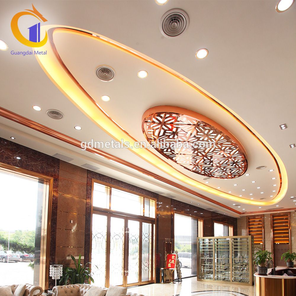 Cheapest To Install Stainless Steel Plafond Hall Pop Decorative