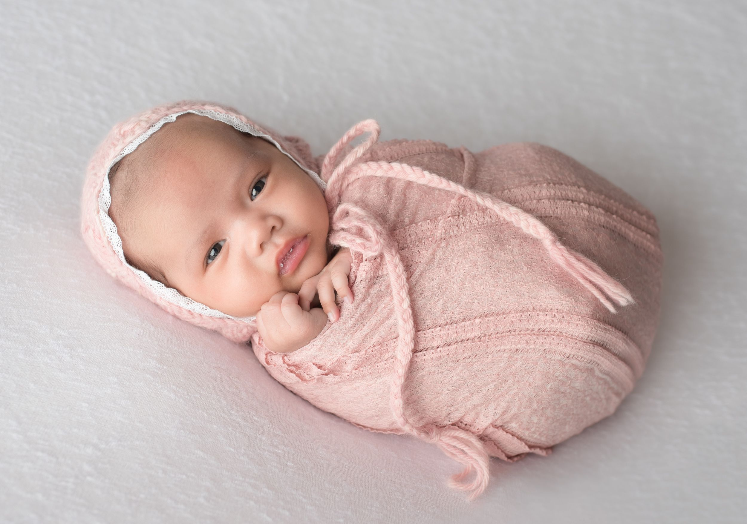 Alessandra was 5 weeks old for her newborn photography session and wide awake for a lot of it isnt she adorbs