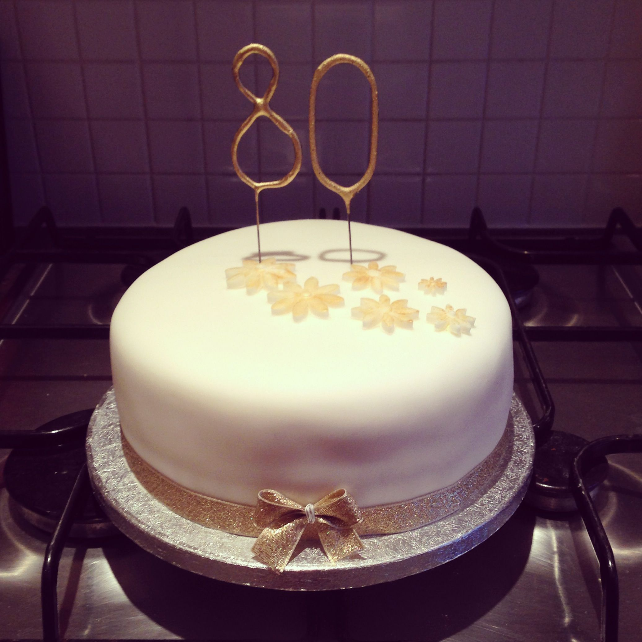 80th Birthday Cake A Simple 8 Inch Vanilla Sponge With Jam And