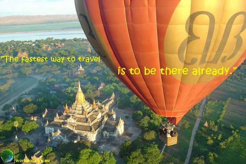 The fastest way to travel is to be there already #travel #quotes