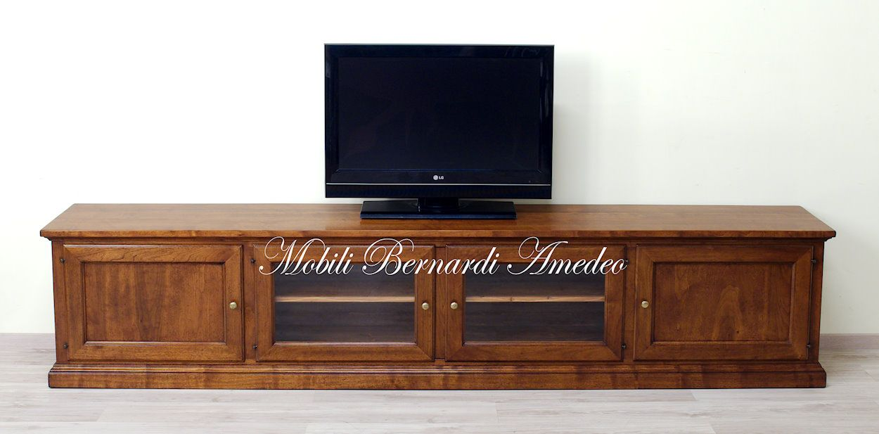Le Fablier Mobili Porta Tv.Tv Stand Solid Walnut 270 Cm Long Mobile Tv In Noce Massello Da