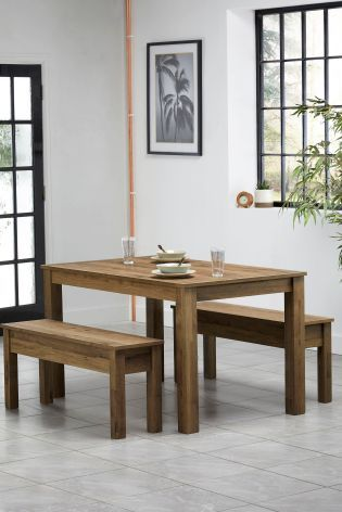 Outstanding Bronx Dining Table And Bench Set New House Table Bench Gmtry Best Dining Table And Chair Ideas Images Gmtryco