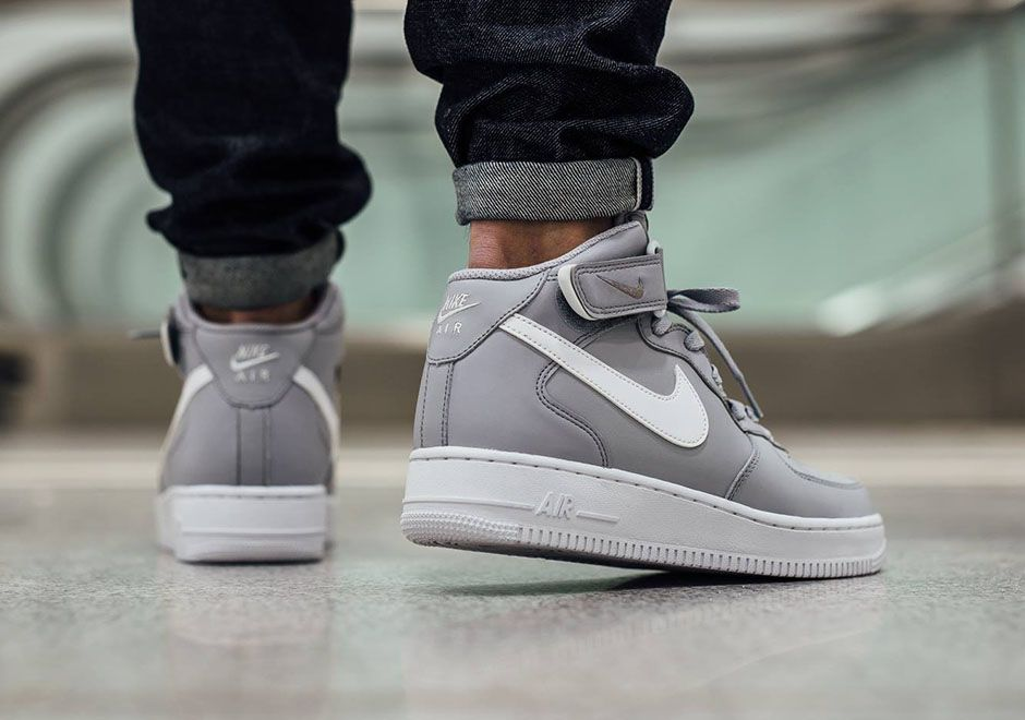 Nike Air Force 1 Gris Moyen De Marbre Blanc