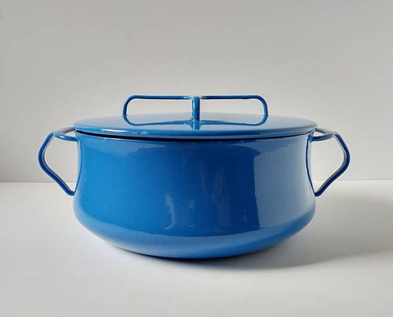 Dansk Dutch Oven Blue Enamel Pot Kobenstyle Cookware French Enamel Dutch Oven Dansk