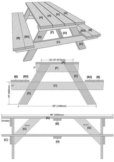 How to build a large traditional picnic table