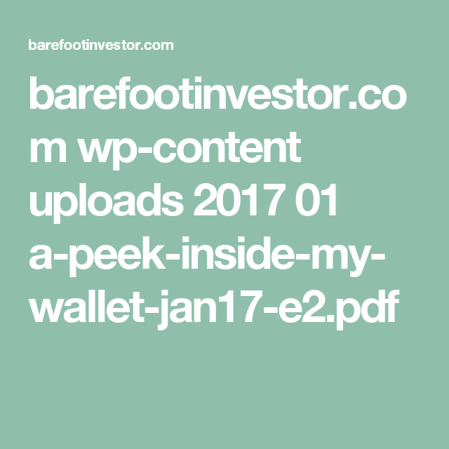 A peek inside the barefoot investors walletworth a read a peek inside the barefoot investors walletworth a read malvernweather Choice Image
