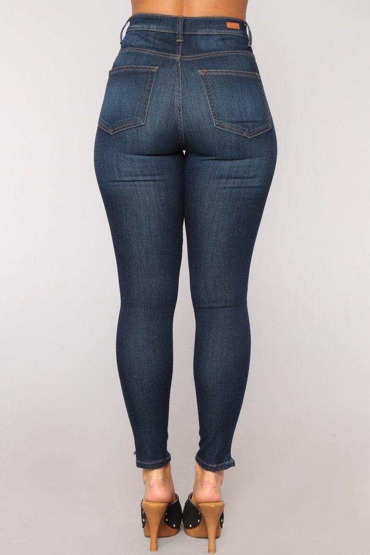 Photo of Hips Like Honey Skinny Jeans – Dark Denim