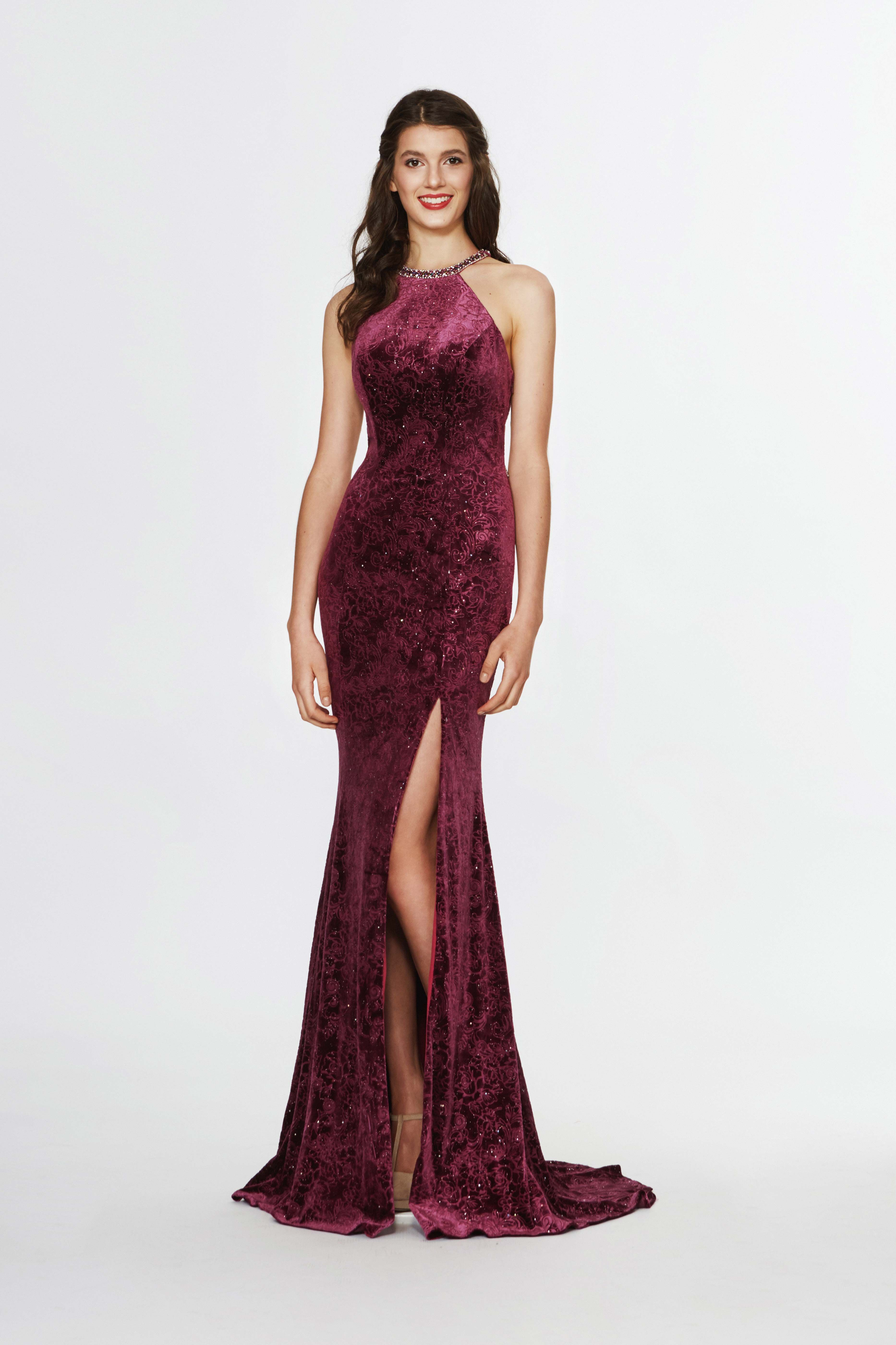 Angela Alison Style 91054 In Wine Beautiful Prom Dresses Dresses Sleeveless Formal Dress [ 5597 x 3732 Pixel ]